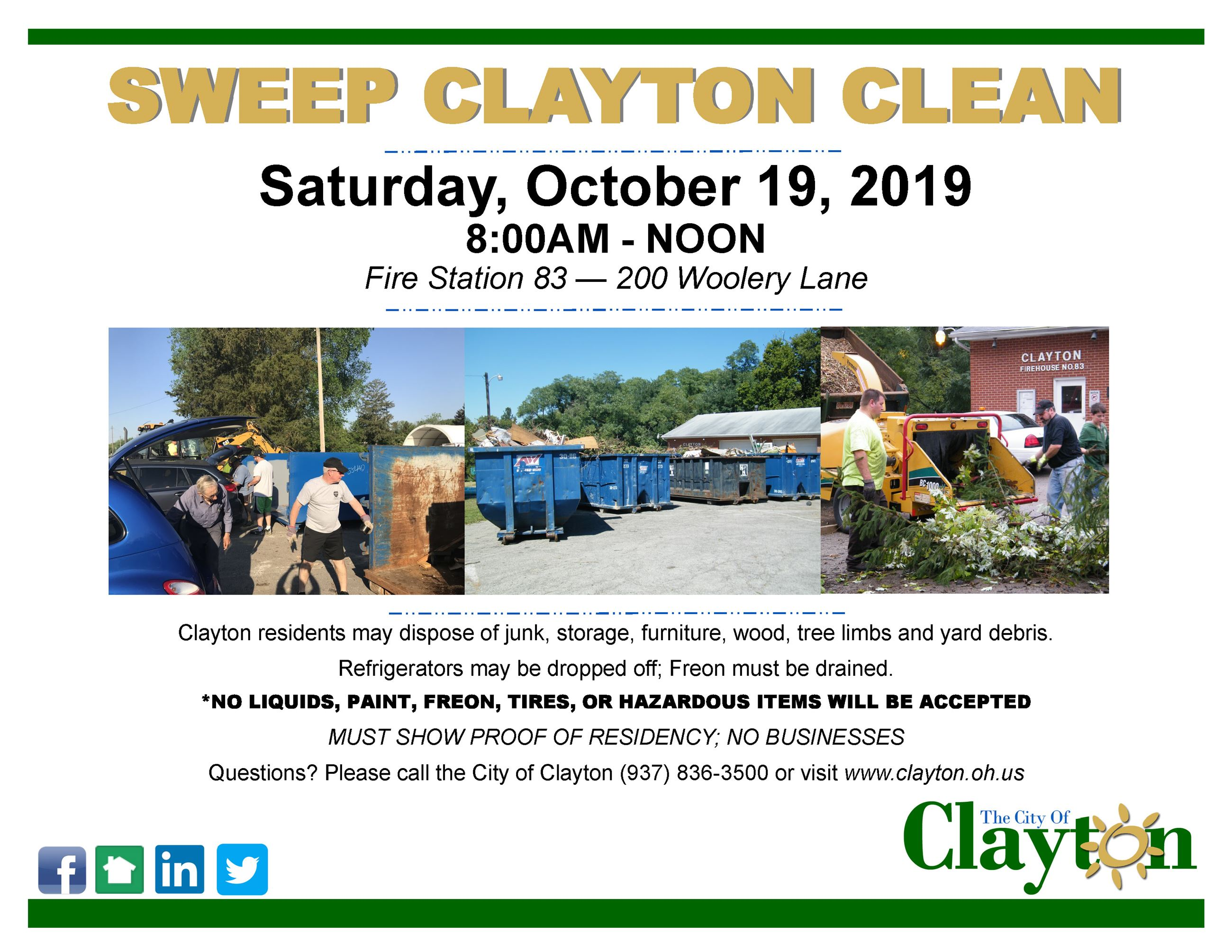 Sweep Clayton Clean Flyer - October 2019